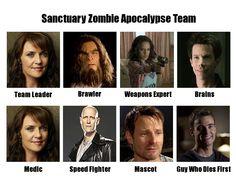 Sanctuary Zombie Apocalypse Team by ~DuchessAliana on DeviantART. Lol with Will <-- omg yes