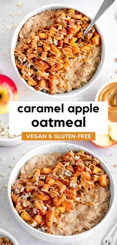 Healthy Vegan Breakfast, Savory Breakfast, Sweet Breakfast, Fall Breakfast, Breakfast Ideas, Healthy Food, Oatmeal Recipes, Apple Recipes, Free Recipes
