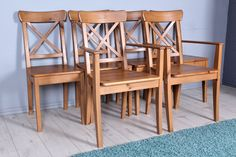 £99  Set of 6 pine chairs including 2 carvers - see the website to see all our pine furniture - http://www.sussexpineonline.co.uk/gb/