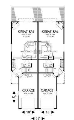 4 plex 3 main floor apartmenthouse plan ideas pinterest acton 2770 3 bedrooms and 2 baths the house designers malvernweather Image collections