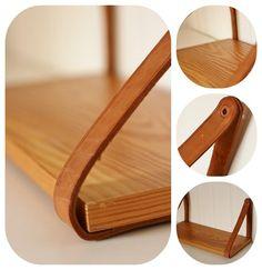 nattbord skinn tre wood leather table