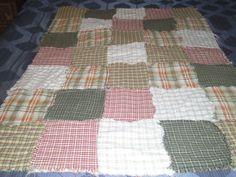 Homespun fabric Quilt.