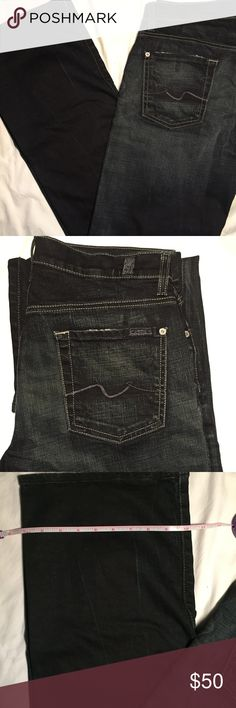 7 fam Dark Wash Relaxed Fit Jeans (29W) Perfect condition 7 fam dark wash jeans!          All products* sold by super22saver55 are pre-washed using Tide Pods, Downy Unstoppables, and Oxygen Orange for your convenience.  *Not including NWT products, products made of wool or sports wear.  *Sports wear products are washed with detergent and vinegar or baking soda. 7 For All Mankind Jeans Relaxed