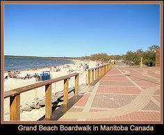 Grand Beach boardwalk in Manitoba, Canada.
