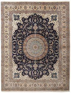 Nain wool/silk carpet