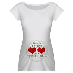 TimeLord Twins Maternity T-Shirt, now i need to find a whovian who's having twins
