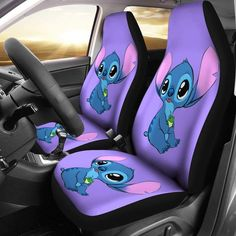 Unique car seat covers and custom car seat covers Cute Disney, Disney Cars, Stool Color Chart, Stool Chart, Disney Car Accessories, Lilo And Stitch Quotes, Lelo And Stitch, Disney Stich, Chair Photography
