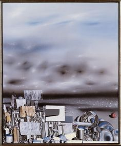 The Mirage of Time Artist:Yves Tanguy (American (born France), Paris Woodbury, Connecticut) Medium:Oil on canvas x 32 in. x cm) Classification:Paintings Yves Tanguy, Museums In Nyc, Surrealism Painting, Art Academy, People Art, Fantastic Art, Famous Artists, Art Boards, Les Oeuvres