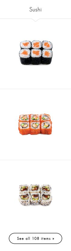 """""""Sushi"""" by giovanna1995 ❤ liked on Polyvore featuring food, fillers, food and drink, food & drink, sushi, filler, backgrounds, text, phrase and quotes"""