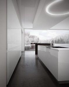Beautiful kitchen & light fixture