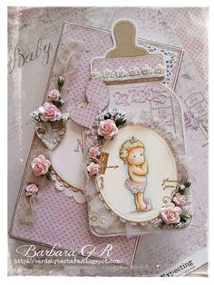 Cards by Barbara: Tilda in Bunny Slippers