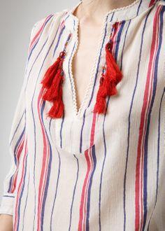 Tassel beaded blouse