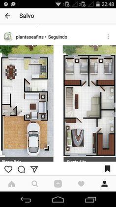 Small Room Design Bedroom, Home Room Design, Dream Home Design, Home Design Plans, House Layout Plans, Dream House Plans, Small House Plans, House Layouts, House Arch Design