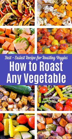 Roasted Veggies Recipe, Roasted Vegetable Recipes, Best Roasted Vegetables, Seasoning For Roasted Vegetables, How To Roast Vegetables, Grilled Vegetables Oven, Vegetables In The Oven, Summer Vegetable Recipes, Vegetable Ideas