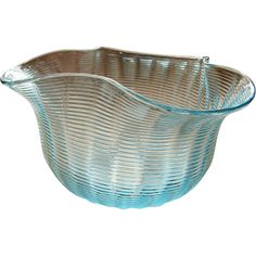 Victorian art glass, Blue antiQue finger bowl