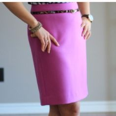NWOT J. Crew No. 2 Pencil Wool Skirt Bright Dahlia New without tags, never worn. I need a different size, so hopefully I can sell this and find something on Poshmark for myself. J. Crew Skirts Pencil