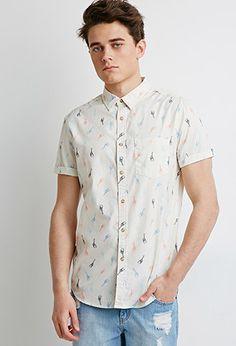 Giraffe Print Shirt | 21 MEN | #f21men