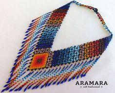 Mexique Huichol perles Tribal collier ROUAGE-0017 mexicain