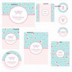 Kit digital para imprimir Borboleta Provençal Azul e rosa floral    Os kits digitais da Charme Papeteria são personalizados, criados especialmente para você. Você pode escolher um tema do nosso portfólio ou um tema novo, mediante confirmação de disponibilidade. Nosso portifólio: http://www.elo7.com.br/kits-digitais/al/3BA8E    O cliente pode optar por uma das opções de compra:  PACOTE 1: Kit com 5 itens - R$ 50,00  PACOTE 2: Kit com 7 itens - R$ 68,00  PACOTE 3: Kit com 10 itens - R$ 93,00…