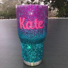 Custom glitter ombre tumbler// PLEASE READ item details// #GlitterPaint #GlitterGlasses