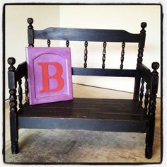 Turned this old bed into a bench :)