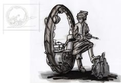 Monowheel Scout by LoperaCano, via Behance Behance, Image, Art, Art Background, Kunst, Art Education