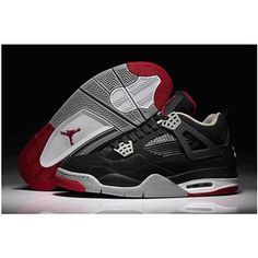 Top Nike Air Jordan IV Mens Shoes in Black White and Red, cheap Jordan If you want to look Top Nike Air Jordan IV Mens Shoes in Black White and Red, ...