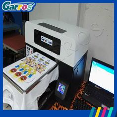 prodcut-image T Shirt Printing Machine, Printing On Fabric, T Shirt Printer, Tshirt Colors, Arcade, Printed Shirts, A3, Prints, Goals