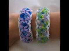 Rainbow Loom PATCHWORK QUILT Bracelet. Designed and loomed by Claire's Wears. Click photo for YouTube tutorial. 05/26/14.