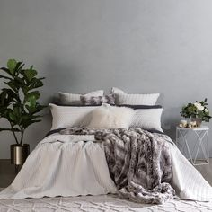 Camden Silver Coverlet Set - www.pillowtalk.com.au/