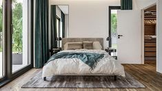 Projekt domu HomeKoncept-73 174,27 m2 - koszt budowy - EXTRADOM Interior Decorating, Interior Design, Decoration, Bedroom Decor, Bedroom Ideas, House Plans, Pergola, House Design, Bedrooms