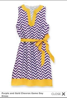 Cute dress for those LSU games.