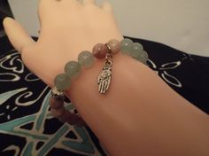 Sunstone and Green Aventurine Hamsa Hand Lotus by HealingAuras