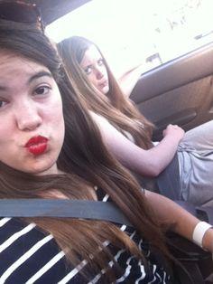 Car trip selfies x
