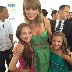 "But she's not just a flawless dancer and model. Here she is fangirling over Taylor Swift like the rest of us. #relatablequeenMaddie | 16 Reasons ""Dance Moms'"" Maddie Ziegler Slays"