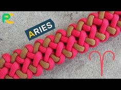 How to Make the Libra Paracord Bracelet Tutorial - YouTube #bushcraftprojects