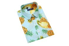 6567fa5a52b QIHUANG Women's Dress Pineapple Printing Pastoral Partysu Style Shirt Short  Sleeve Button Down Collared Blouses (XL, pink) at Amazon Women's Clothing  store: