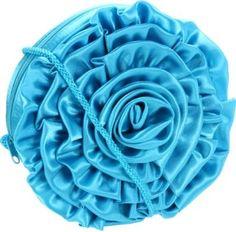 La Regale Big Flower Zip Clutch 24112 Clutch,Turquoise,One Size Stylish Handbags, Hermes Handbags, Handbags Michael Kors, Louis Vuitton Handbags, Designer Clutch, Designer Shoes, Flower Bag, Large Flowers, Fashion Accessories