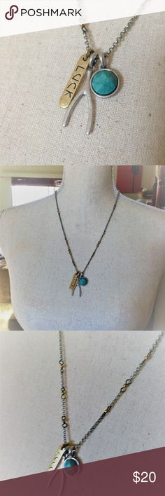 Lucky Brand Good Luck Charm Necklace Worn once In excellent condition Good Luck! Lucky Brand Jewelry Necklaces