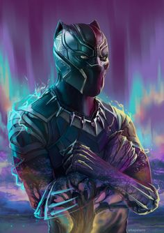 "league-of-extraordinarycomics: ""Black Panther by Alba Palacio """