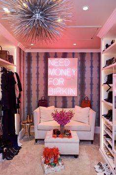 14 Walk In Closet Designs For Luxury Homes Indri Home Decor Ideas Room Ideas Bedroom, Girls Bedroom, Bedroom Decor, Hot Pink Bedrooms, Rich Girl Bedroom, Dream Rooms, Dream Bedroom, Master Bedroom, Dream Closets