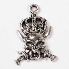 10 Pcs wholesale Pendant,cheap Pendant uk.s,Tibetan Silver Evil Ox Skull King Charm Pendant,cheap Pendant uk.