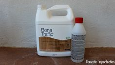 Hands down the best sealer option for paper flooring: Bona Traffic. From: The Paper Flooring Experiment, Part III - Sealer Options Brown Paper Bag Floor, Paper Bag Flooring, Water Based Stain, Best Oils, Painted Floors, Kitchen Flooring, Woodworking Plans, Im Not Perfect, Home Improvement