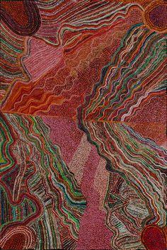 Rupert Jack, Maku, 2014, acrylic on canvas, 122 x 182 cm. Ernabella Arts. For more Aboriginal art visit us at www.mccullochandmcculloch.com.au #aboriginalart #australianart #contemporaryart