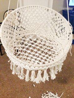 Do it yourself macrame hangstoel
