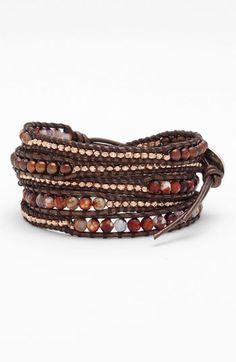 Chan Luu 'Purple Fire Agate Mix' Wrap Bracelet | Nordstrom