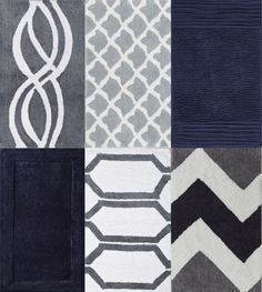 Simple Soft Navy Blue Bath Rugs : Navy Blue Bath Rugs With Many Motif