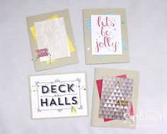 Use the Hello December Project Life Card Kit & Accessory Pack to make some quick Christmas Cards!  -Kaitlyn Zumbach