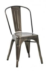 We love our Tolix style industrial chair - perfect for any modern dining environment. In stock now!