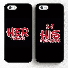 Find More Phone Bags & Cases Information about 2pcs/lot Lovely His Princess…